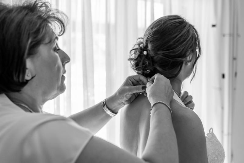 Mariage Sara et Mario 2016 préparatifs N&B